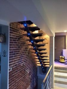 Escalier led intégré